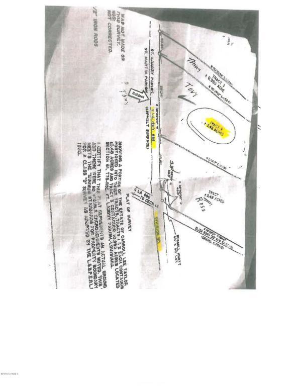 Hwy 686 (divison ) Rd, Arnaudville, LA 70512
