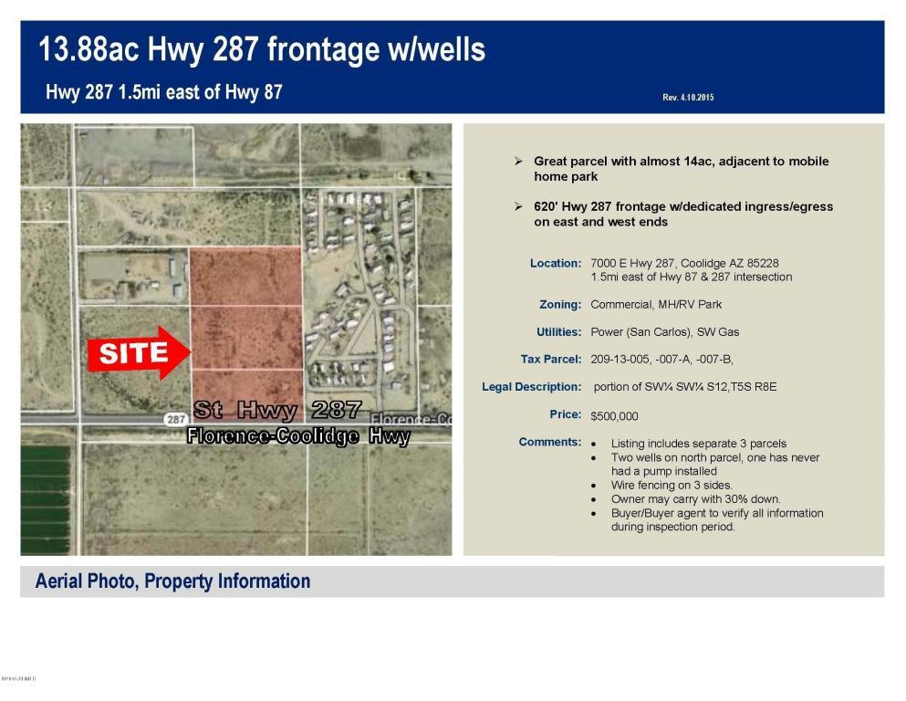 7000  Hwy 287, Coolidge, AZ 85128