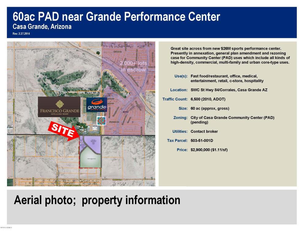 SEC  Hwy 84 And Guinn Dr, Casa Grande, AZ 85122