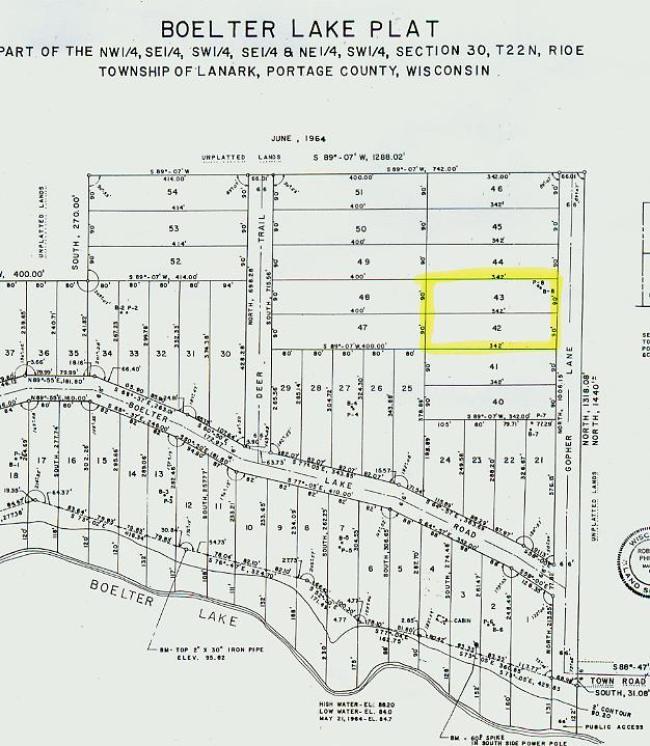 Lot 42-43 Boelter Lake Lane, Almond, WI 54909