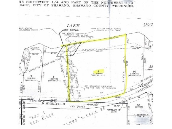 Channel Trace Lot 9, Shawano, WI 54965